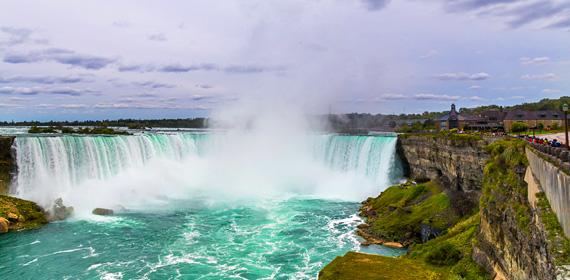 View of Niagara Falls Ontario.