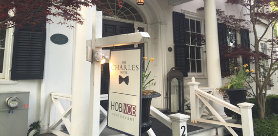 The Hob Nob gourmet restaurant at the Charles Inn Niagara on the Lake.
