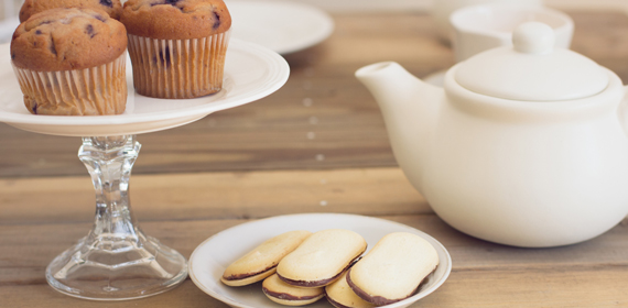 Afternoon tea made easy living at Upper Vista Luxury Condos.