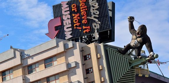 The Ripley's Believe it or Not Museum on Clifton Hill, Niagara Falls, is a popular attraction.